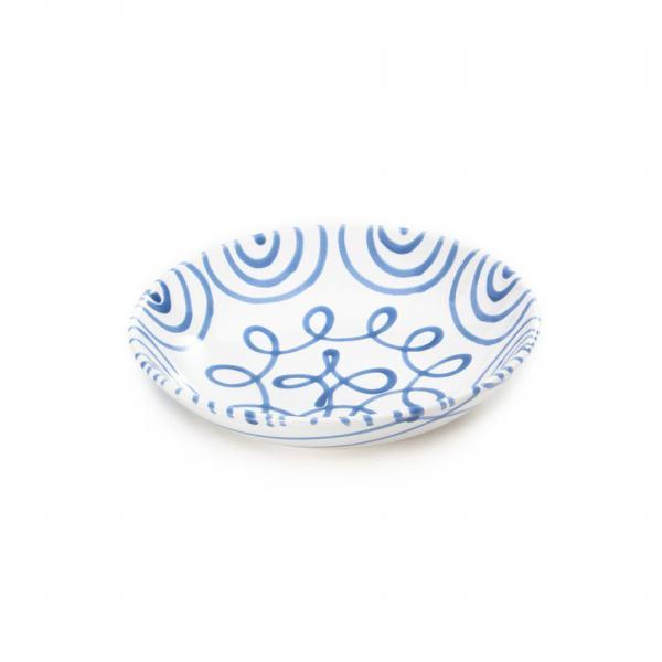 Gmundner Keramik Blaugeflammt Suppenteller Cup (Ø 20cm)