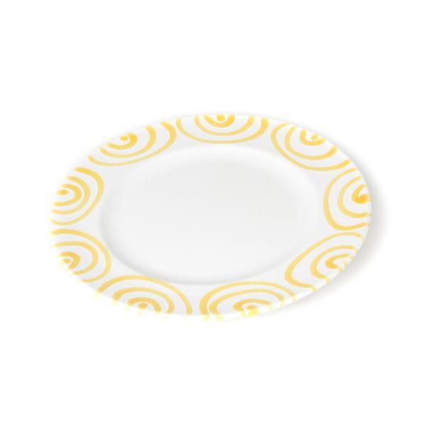 Gmundner Keramik Gelbgeflammt Desserteller Gourmet 18cm
