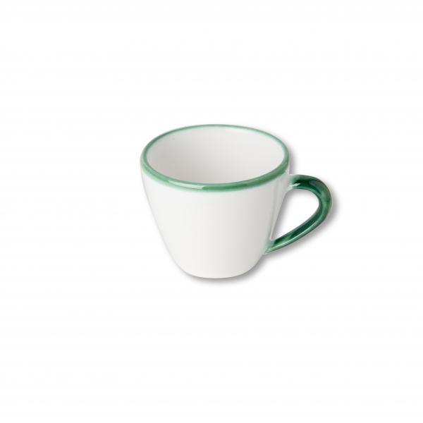 Gmundner Keramik Grüner Rand Cappuccino Tasse Gourmet 0.16L