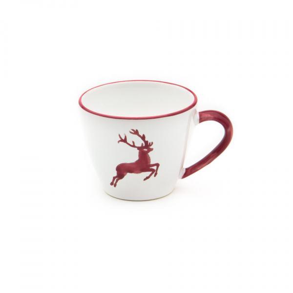 Gmundner Keramik Bordeauxroter Hirsch Kaffeetasse Gourmet 0.2L