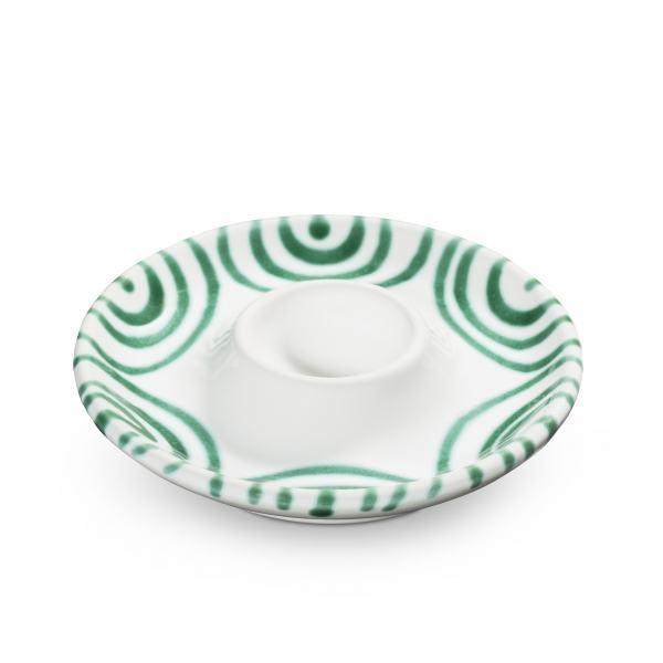 Gmundner Keramik Grüngeflammt Eierbecher glatt (Ø 12 cm)