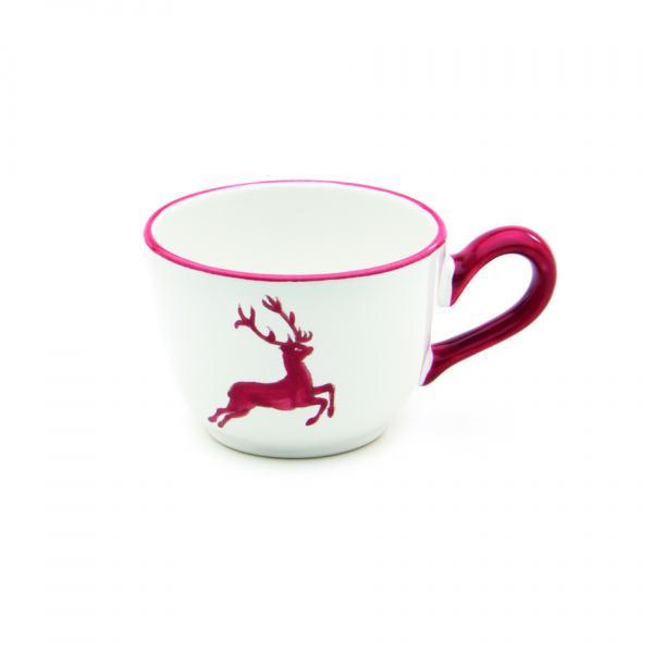 Gmundner Keramik Rubinroter Hirsch Kaffeetasse glatt 0.19L