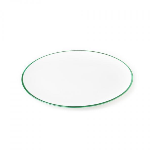 Gmundner Keramik Grüner Rand Platte oval (33x26cm)