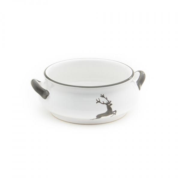 Gmundner Keramik Grauer Hirsch Suppenschale 0.37L