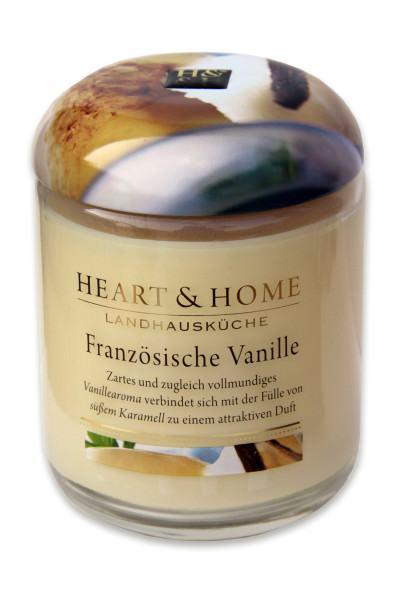Heart & Home Duftkerze groß französiche Vanille 310gr