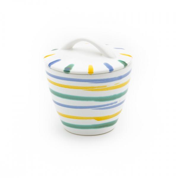 Gmundner Keramik Buntgeflammt Zuckerdose Gourmet Ø 9cm