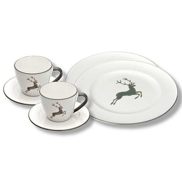 gmundner keramik grauer hirsch breakfast for two gourmet. Black Bedroom Furniture Sets. Home Design Ideas