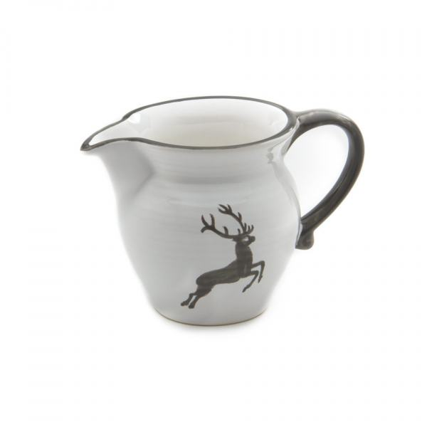 Gmundner Keramik Grauer Hirsch Milchgießer glatt (0.3L)