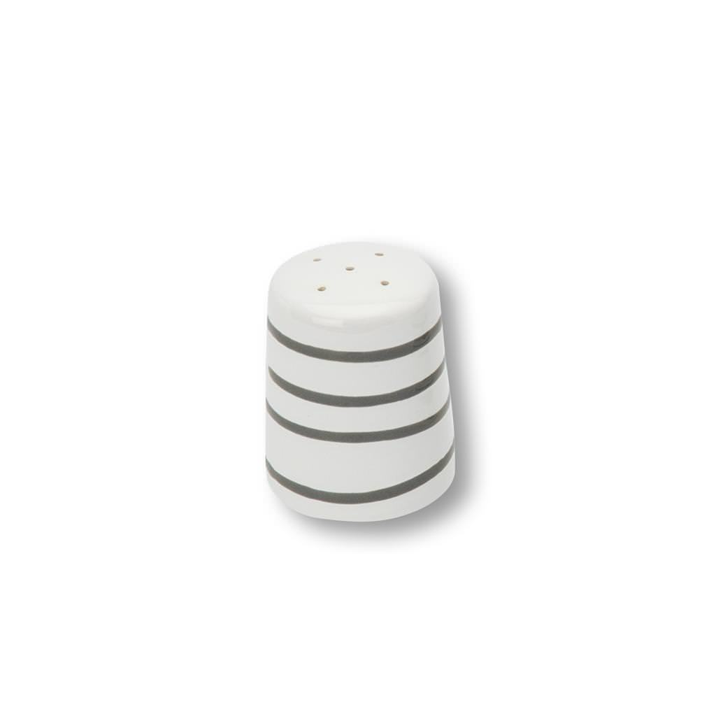 Gmundner Keramik Graugeflammt Salzstreuer glatt
