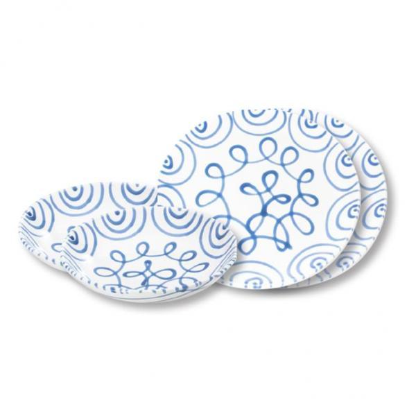 Gmundner Keramik Blaugeflammt Dinner for two Classic