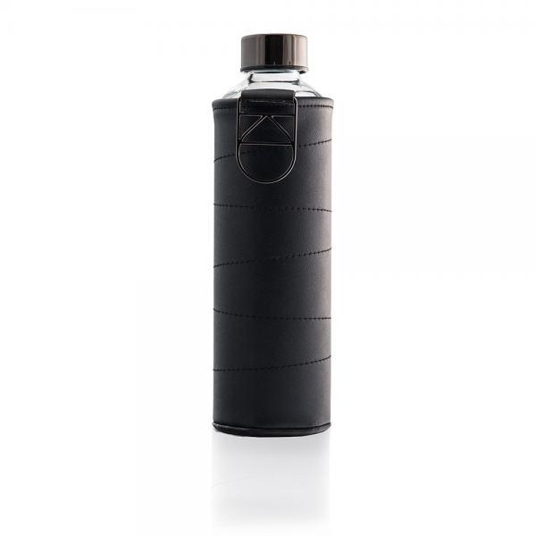 Equa Mismatch Graphite Glasflasche mit Kunstlederhülle, 750ml