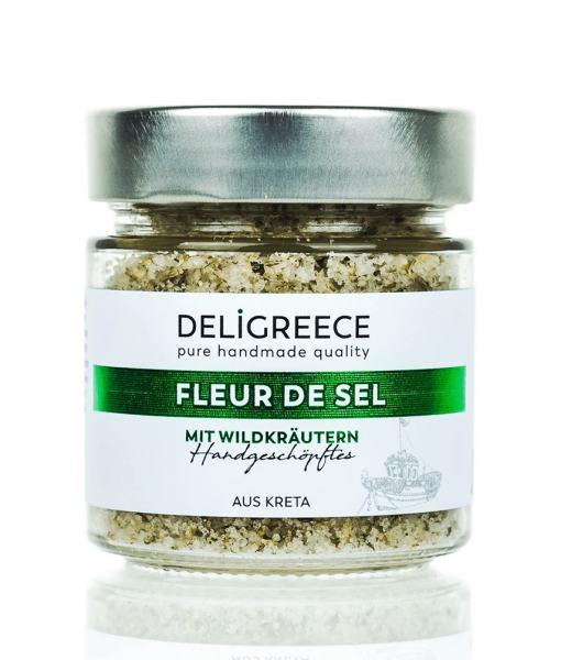 Deligreece Fleur de Sel Salz mit Wildkräutern 160g