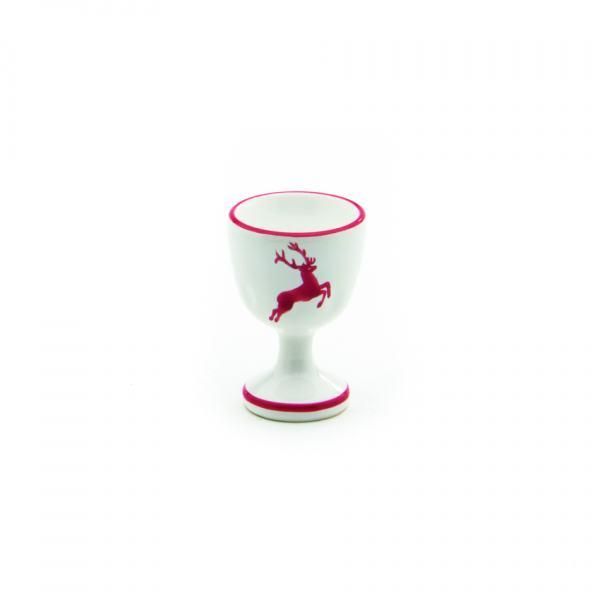 Gmundner Keramik Rubinroter Hirsch Eierbecher glatt (H: 7.5cm)