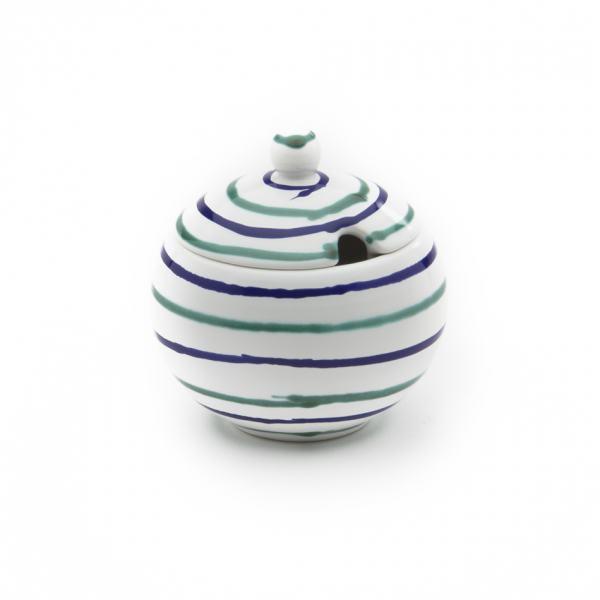Gmundner Keramik Traunsee Zuckerdose mit Ausschnitt (Ø 10cm)