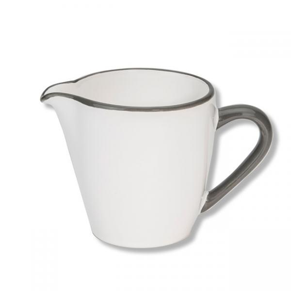 Gmundner Keramik Grauer Rand Milchgießer Gourmet 0,2L