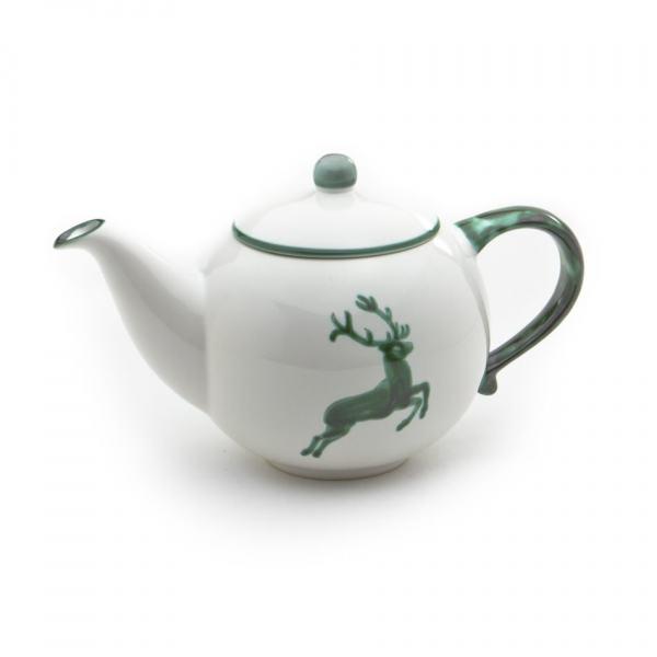 Gmundner Keramik Grüner Hirsch Teekanne glatt 1.5L