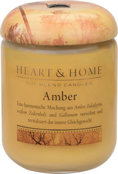 Heart & Home Duftkerze klein Amber 115gr