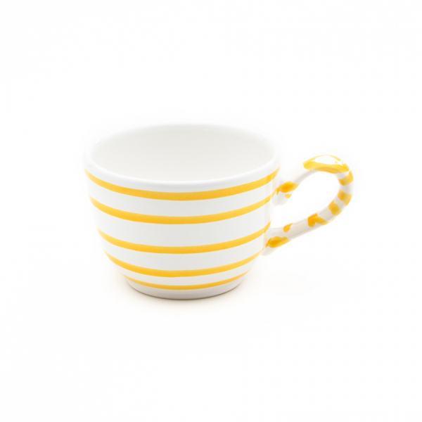 Gmundner Keramik Gelbgeflammt Kaffeetasse glatt (0.19L)