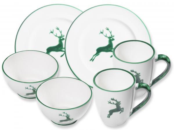 Gmundner Keramik Grüner Hirsch Hüttenfrühstück Gourmet für 2