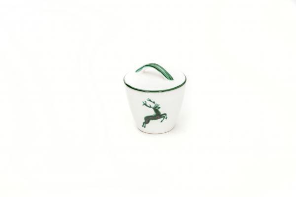 Gmundner Keramik Grüner Hirsch Zuckerdose Gourmet 9cm