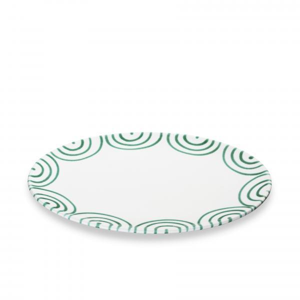 Gmundner Keramik Grüngeflammt Platte oval 28x21cm