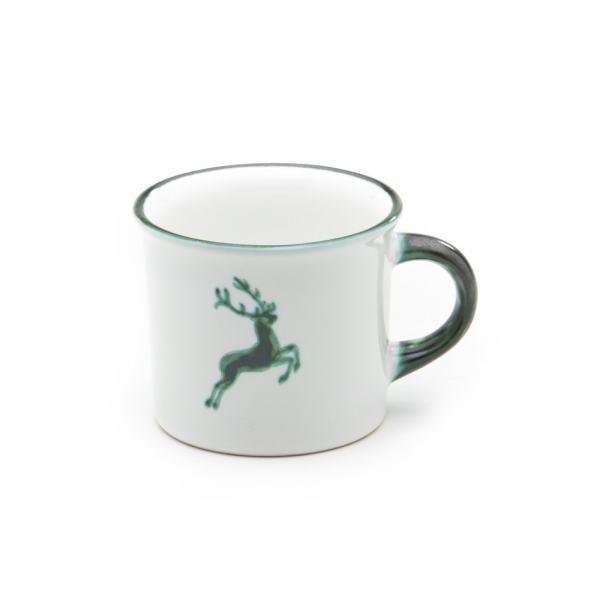 Gmundner Keramik Grüner Hirsch Kaffeehaferl glatt 0.24L