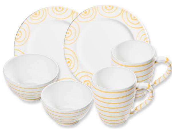 Gmundner Keramik Gelbgeflammt Hüttenfrühstück Gourmet Für 2