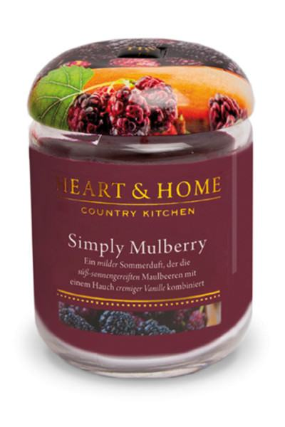 Heart & Home Duftkerze groß Simply Mulberry 310gr