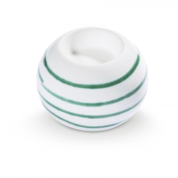 Gmundner Keramik Grüngeflammt Kugel-Leuchter/ 1 Teelicht