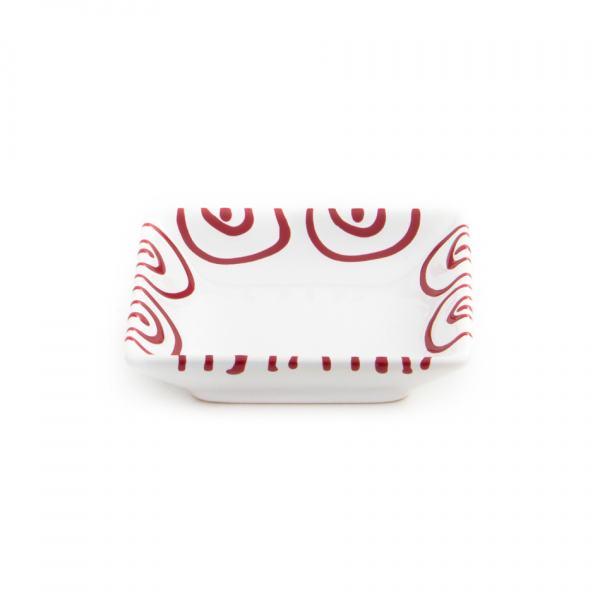 Gmundner Keramik Rotgeflammt Schälchen quadratisch 9x9cm