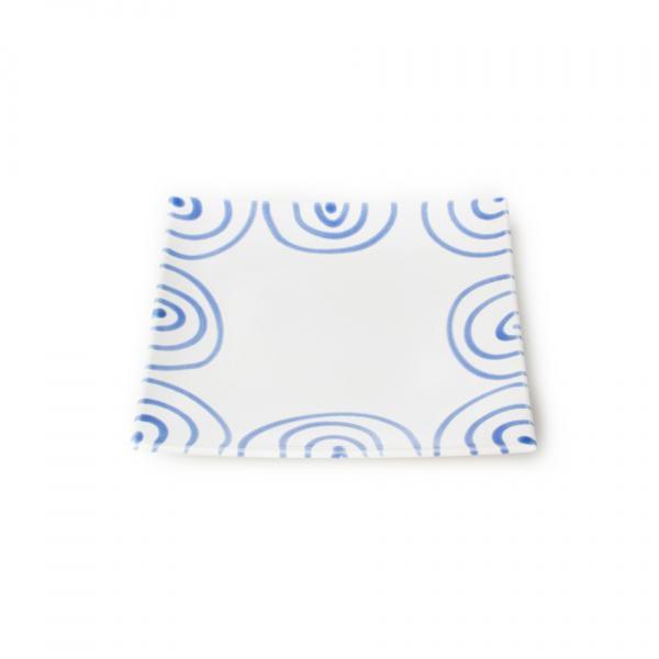 Gmundner Keramik Blaugeflammt. Teller/Dessert