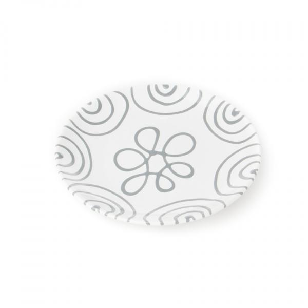 Gmundner Keramik Graugeflammt Dessertteller Cup (Ø 20cm)