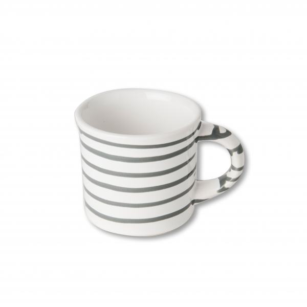 Gmundner Keramik Graugeflammt Kaffeehaferl glatt 0,18L