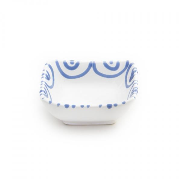 Gmundner Keramik Blaugeflammt Schälchen quadratisch (9x9cm)