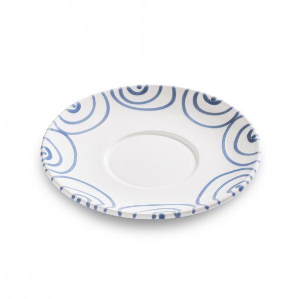 Gmundner Keramik Blaugeflammt Unterteller Teetasse Maxima Ø18cm