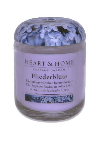 Heart & Home Duftkerze klein Fliederblüte 115g
