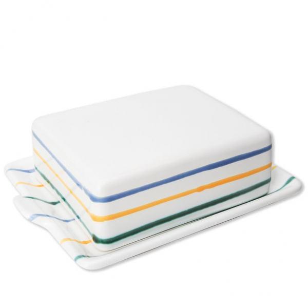 Gmundner Keramik Buntgeflammt Butterdose 250g