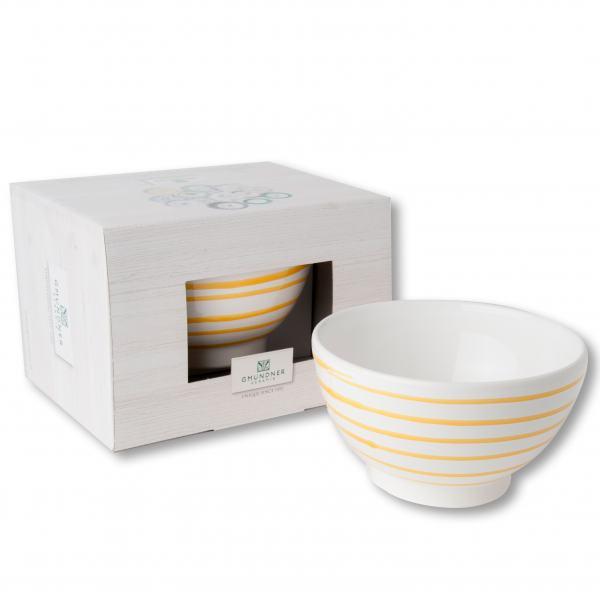 Gmundner Keramik Gelbgeflammt Müslischale groß (0.4 L)