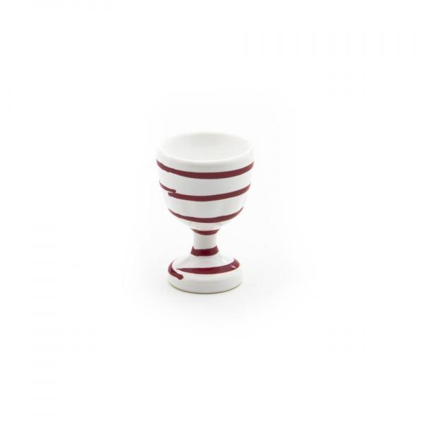 Gmundner Keramik Rotgeflammt Eierbecher glatt 7.5cm