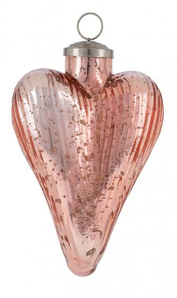 Glasherz, hängend apricot 10 x 15 cm