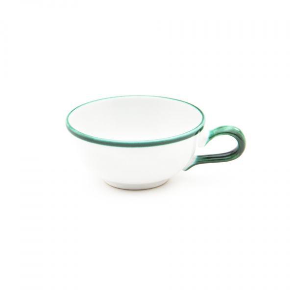 Gmundner Keramik Grüner Rand Teetasse glatt 0.17L