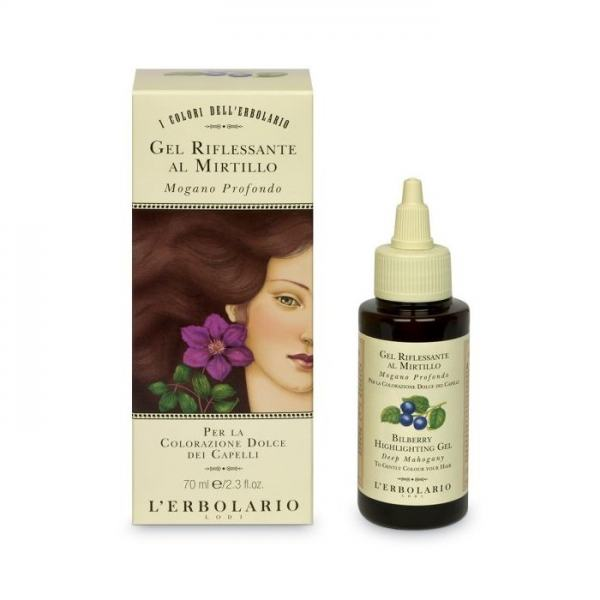 L'erbolario Haarfarben Gel mit Waldbeere - Tief Mahagonirot - 70 ml