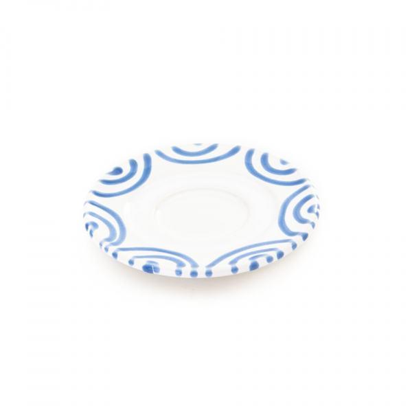 Gmundner Keramik Blaugeflammt Unterteller Espresso Gour. (Ø 11cm)
