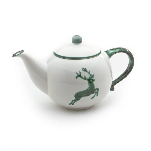 Gmundner Keramik Grüner Hirsch Teekanne glatt 0.5L