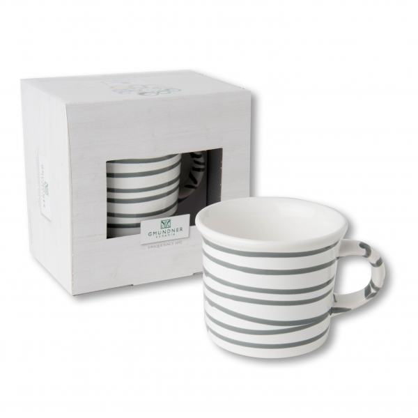 Gmundner Keramik Graugeflammt Kaffeehaferl glatt 0,24L