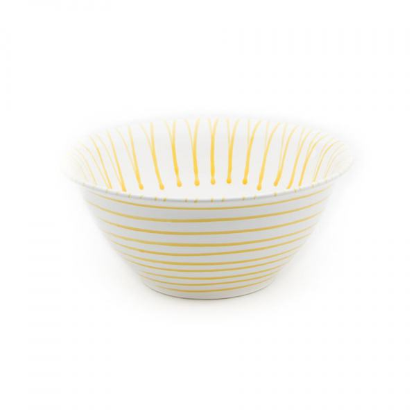 Gmundner Keramik Gelbgeflammt Salatschüssel (Ø 33cm)