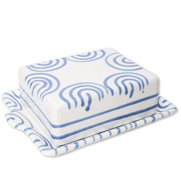 Gmundner Keramik Blaugeflammt Butterdose (250g)