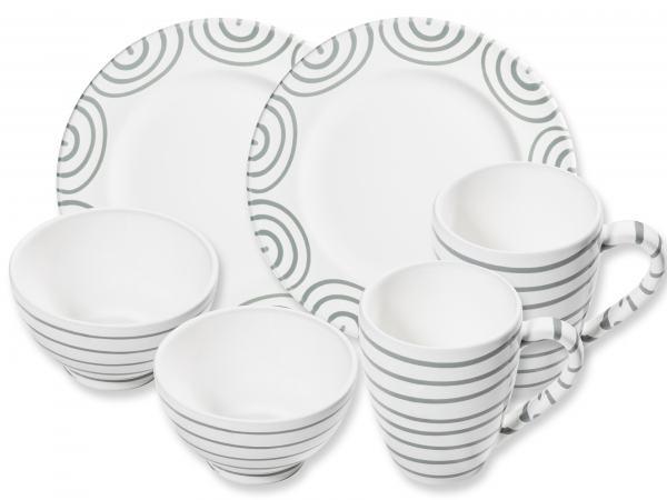 Gmundner Keramik Graugeflammt Hüttenfrühstück Gourmet für 2