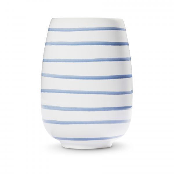 Gmundner Keramik Blaugeflammt Vase H: 11cm