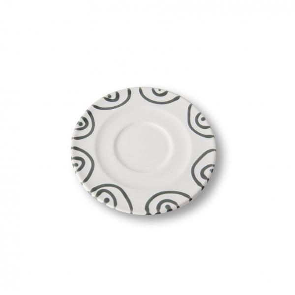 Gmundner Keramik Graugeflammt Unterteller Cappuccino Gourmet 14cm